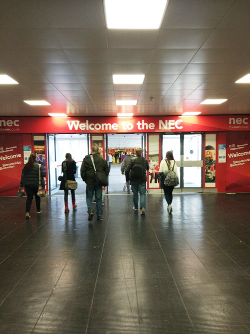THe entrance to the NEC as seen from the train station