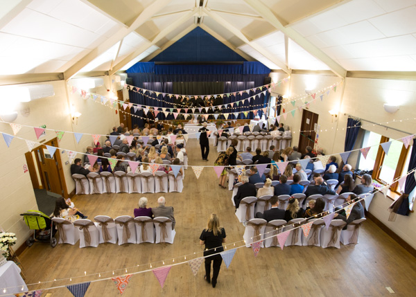 Bradfield Village Hall wedding view from the balcony
