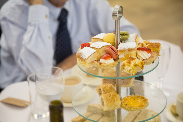 BAfternoon tea cakes and sandwiches at Bradfield Village Hall wedding