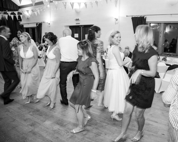 Guests dancing a cailidh at Bradfield village hall