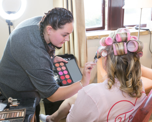 Eleanor Moxon MUA doing mother of the bride makeup at Tankersley Manor