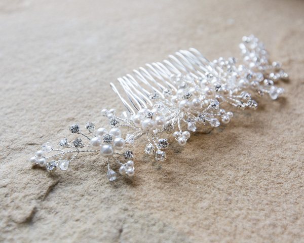 Bridal hairpiece before it's worn