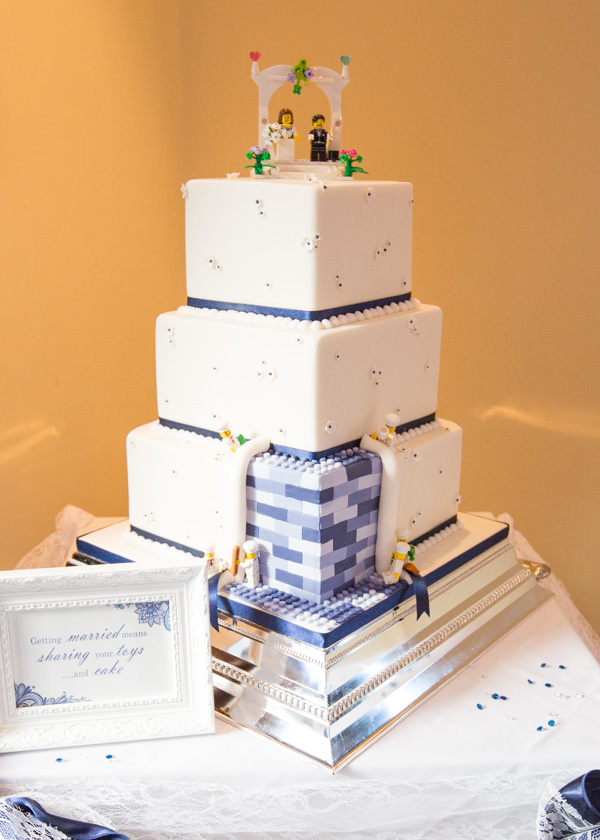 Wedding cake with lego section