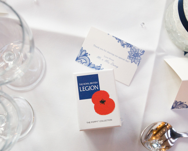 Royal British Legion Poppy wedding favour box