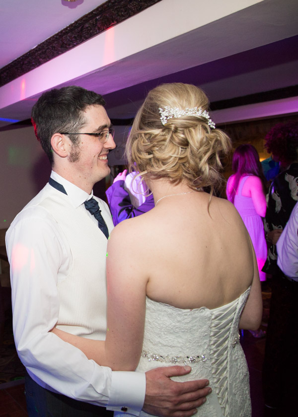 Bride and Groom dancing at Tankersley Manor