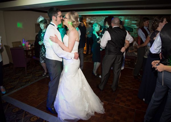 Wedding guests dancing at Tankersley Manor
