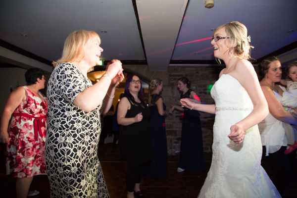 Bride and Guests dancing at the evening reception Tankersley Manor