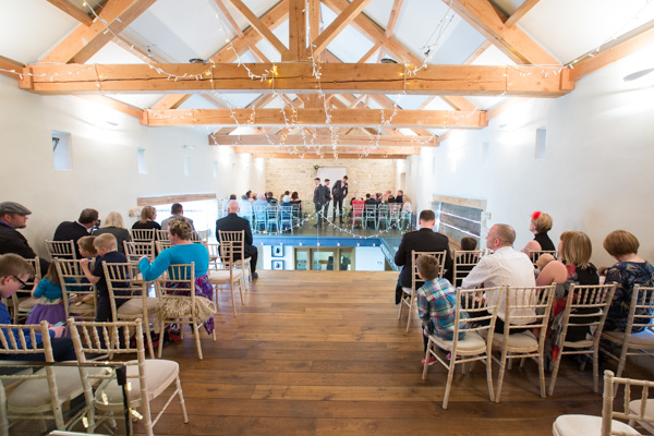 Wedding ceremony room at Priory Barn and Cottages wetherby