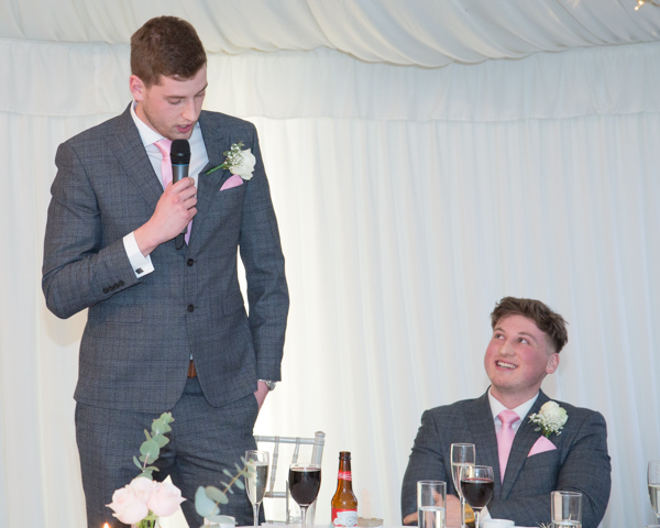 Best man giving a wedding speech