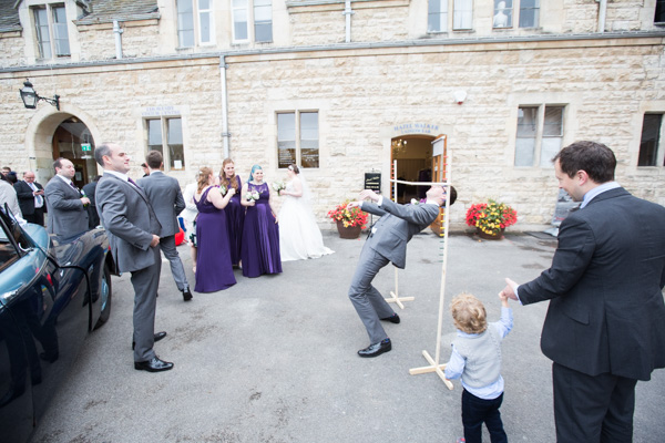 Guests doing the limbo in Thoresby courtyard
