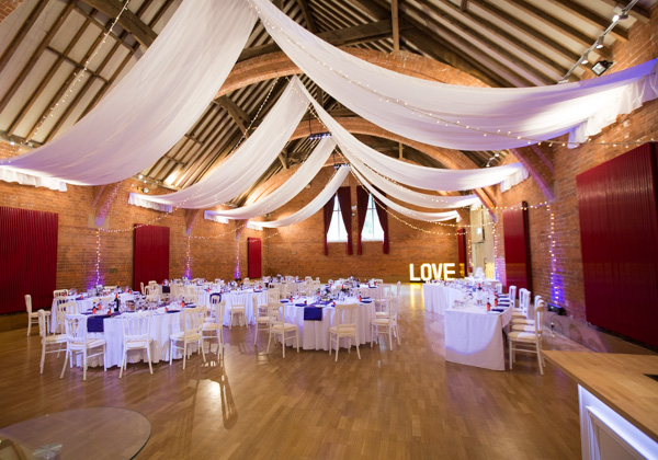 Thoresby Courtyard wedding room set up
