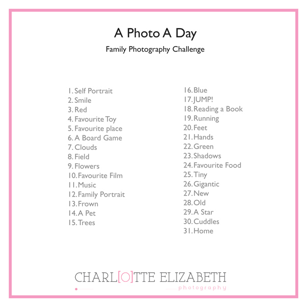 A Photo a day family photography challenge
