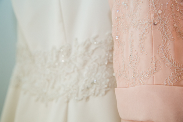 Bride and Bridesmaids dress detail
