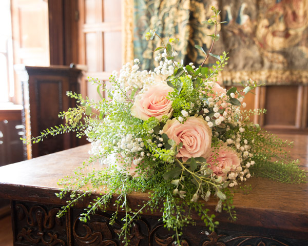 Flowers at the ceremony at Cannon Hall