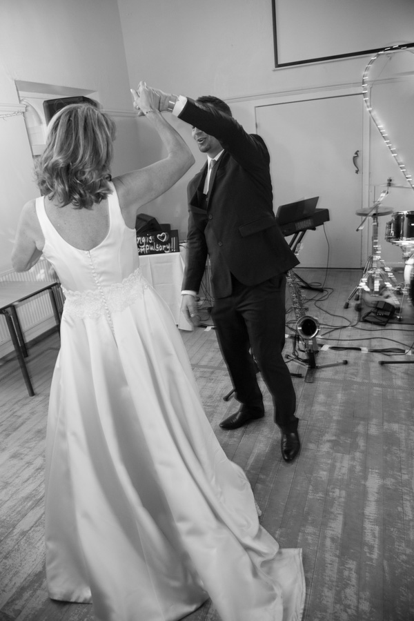 Bride and Groom do their first dance at Cawthorne village hall