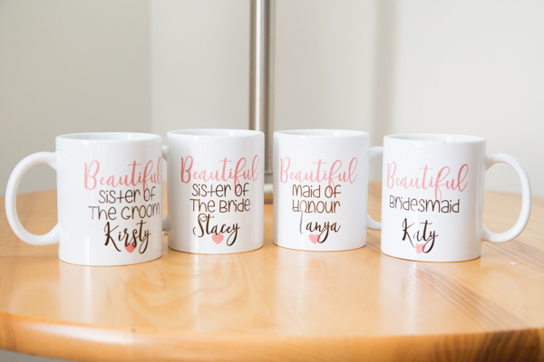 Bridal party personalised mugs