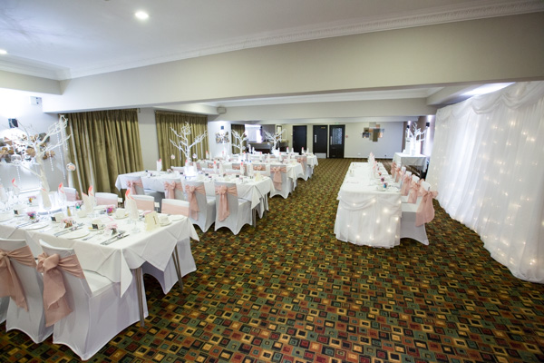 Wedding breakfast room at The Qube Burntwood