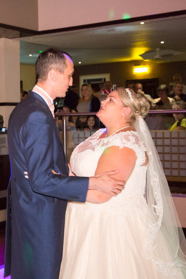 Bride and Groom first Dance at Burntwood court hotel