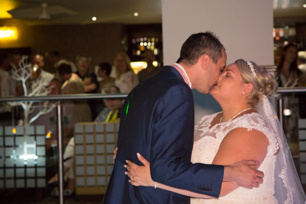 Bride and Groom first dance at the Qube burntwood court