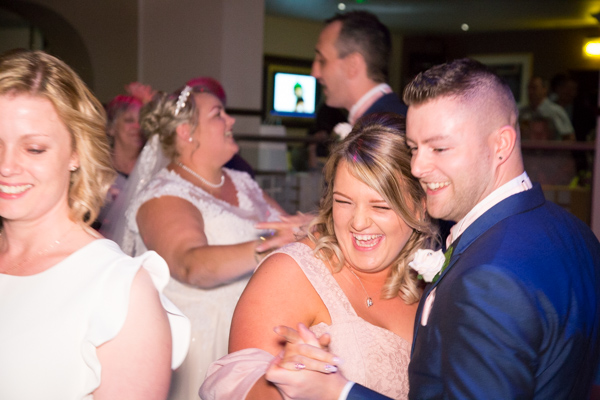 Guests Dancing at Burntwood Court Hotel wedding
