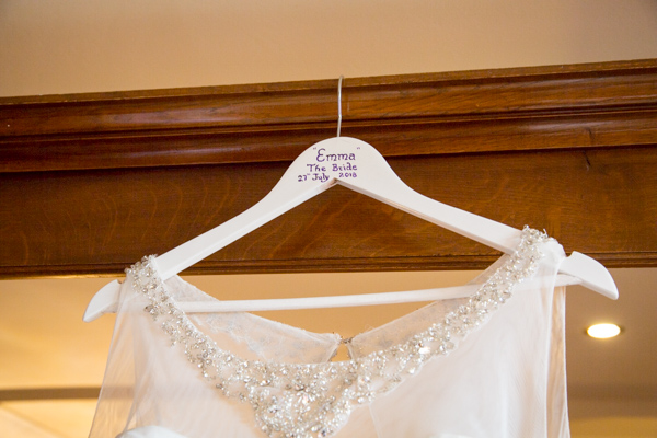 Personalised coat hanger for the wedding dress