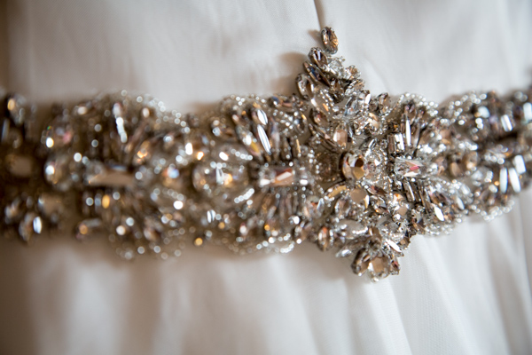 Wedding dress belt detail