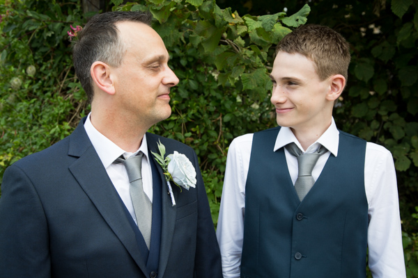 Groom with the Best Man outside Tankersley Manor