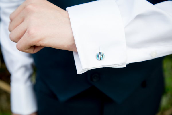 Groomsmen cufflinks at Tankersley Manor Wedding