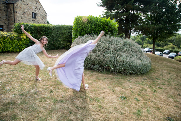 Bridesmaids playing at Tankersley Manor Wedding