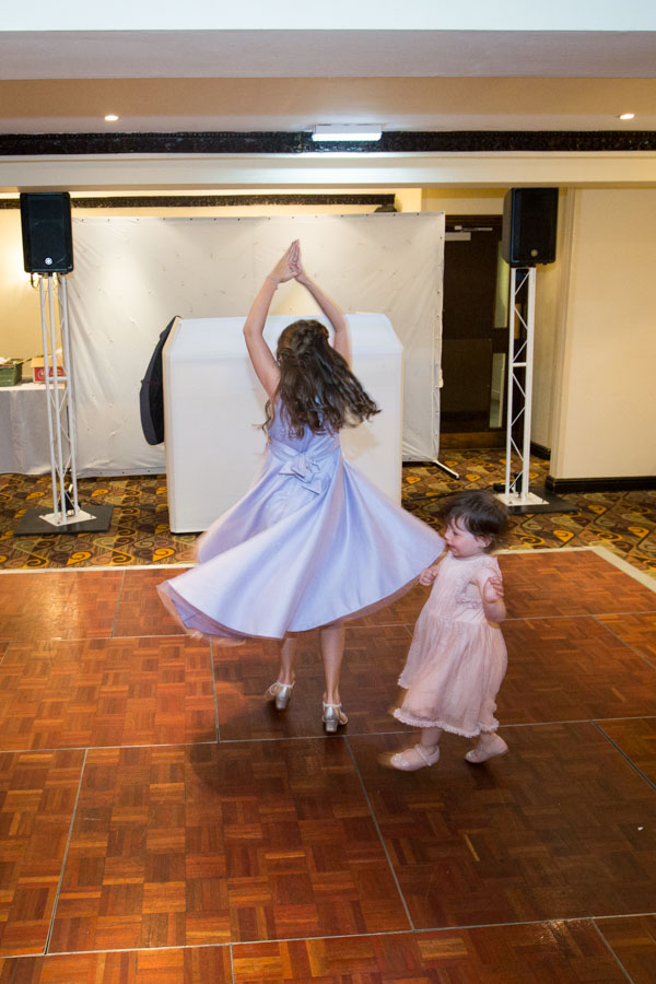 Bridesmaids dancing at Tankersley Manor