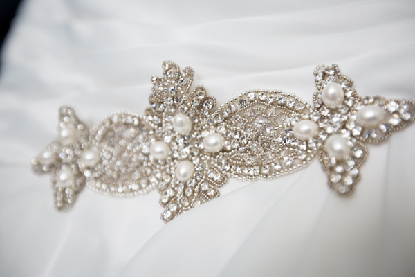 Bridal gown detail from Pomfret Bridal Pontefract