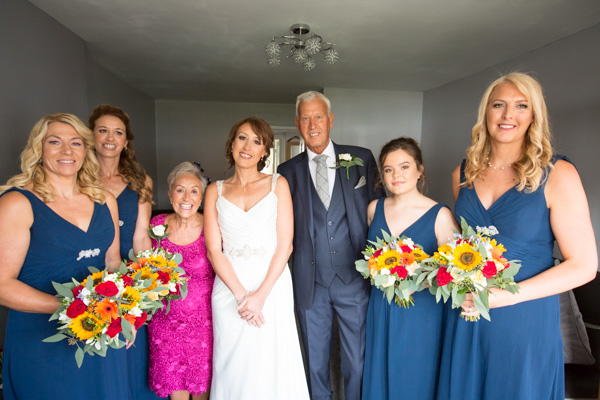 The bridal party before leaving for the ceremony