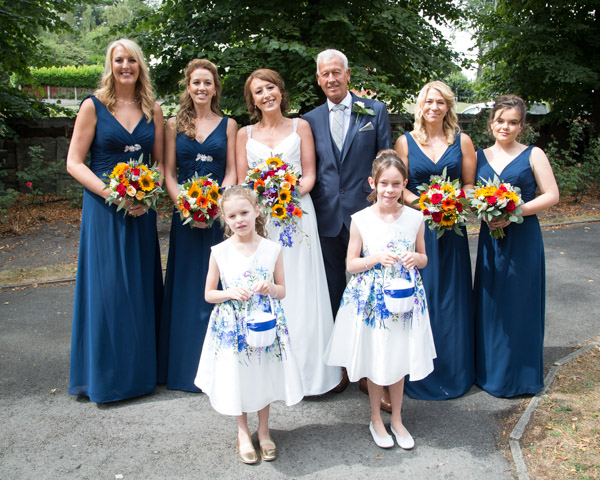 The bridal party before the wedding