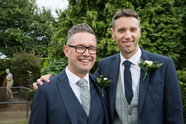 Groom and his best man at Rogerthorpe Manor Wedding