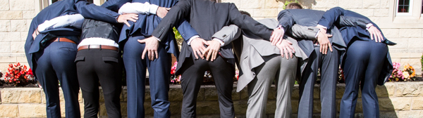Wedding guests showing their bums at Rogerthorpe manor Wedding