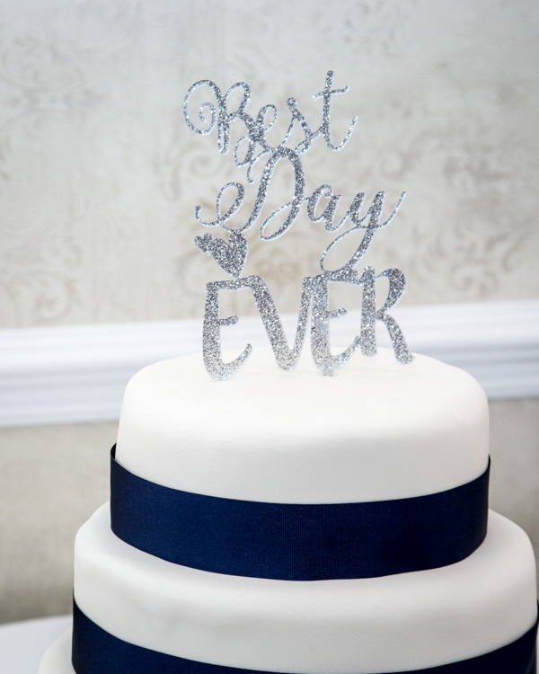 Wedding cake topper'best day ever'