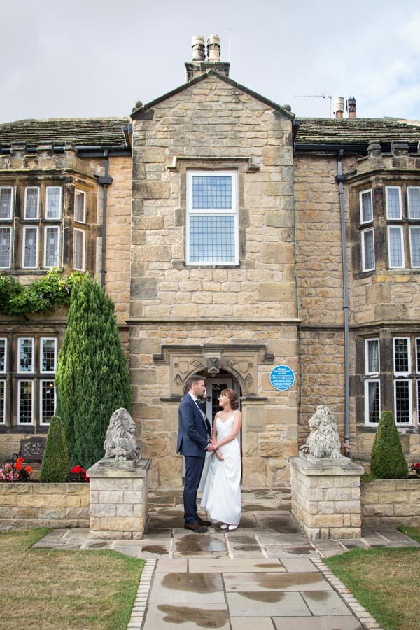 Bride and Groom at Rogerthopre Manor Pontefract Wedding