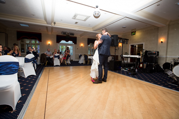 Bride and Groom on the dancefloor at Rogerthorpe Manor Wedding