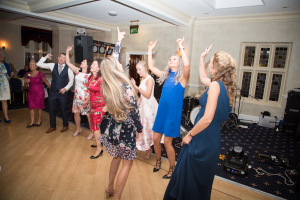 Guests dancing at Rogerthorpe Manor Wedding