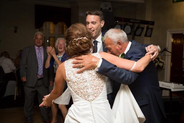 Guests dancing at Rogerthorpe Manor Wedding
