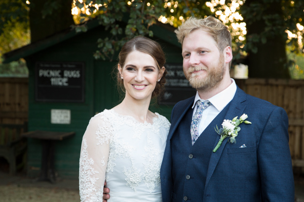 Bride and Groom at Rockingham Arms Wedding