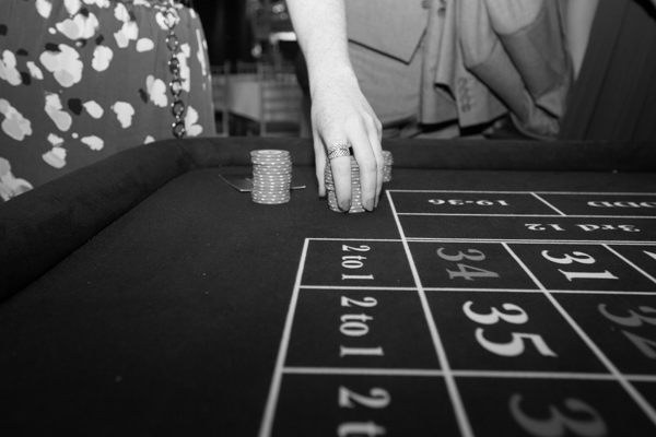 Guests playing on casino tables at Cornhill Castle