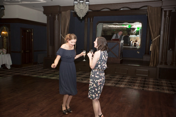 Guests dancing during Cornhill Castle wedding