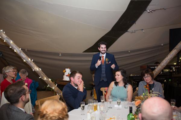 Best Man giving speech at Horsleygate Hall Wedding