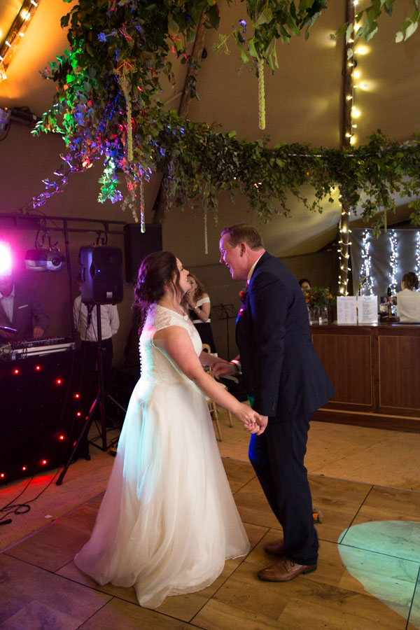 Bride and Groom first dance at Horsleygate hall wedding