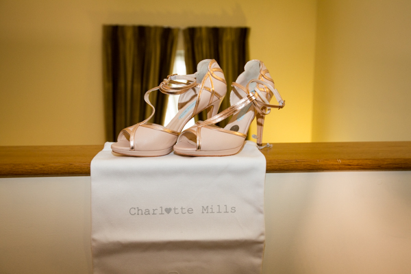 Nude Charlotte Mills bridal shoes