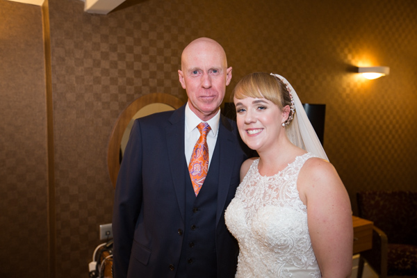 Bride and father of the bride at Leopold Hotel Sheffield