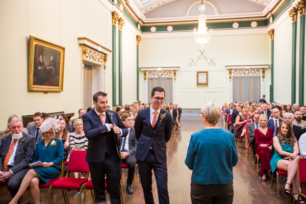 Wedding ceremony taking place at Cutlers' Hall Sheffield