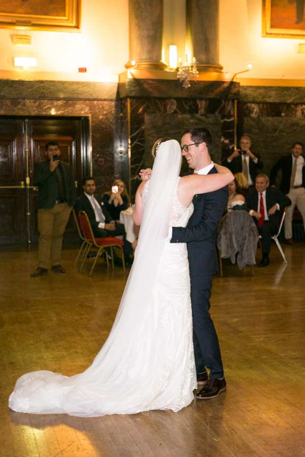 Bride and Groom first dance at Cutlers' Hall Sheffield Wedding