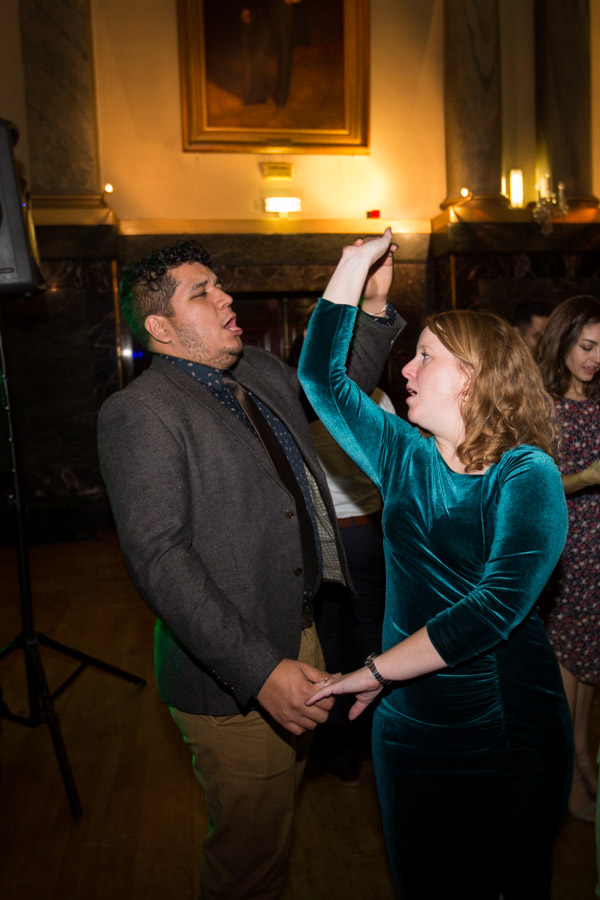 Guests on the dance floor at Cutlers' Hall Sheffield Wedding